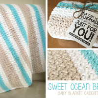 Sweet Ocean Breeze Baby Blanket ~ Rebecca Langford – Little Monkeys Crochet