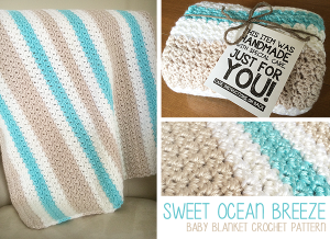 Sweet Ocean Breeze Baby Blanket ~ Rebecca Langford - Little Monkeys Crochet