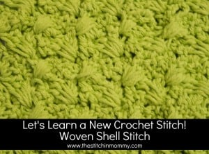 Woven Shell Stitch Tutorial and Afghan Stitch Square ~ The Stitchin' Mommy