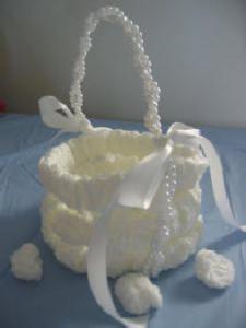 Woven Flower Girl Basket ~ Donna's Crochet Designs