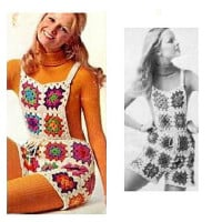 Vintage Crochet Shortalls ~ Craftbits.com
