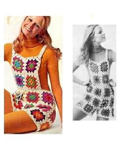 Vintage Crochet Shortalls ~ Craftbits.com