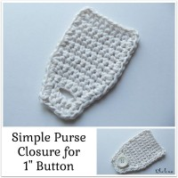 Simple Purse Closure ~ Rhelena – CrochetN'Crafts