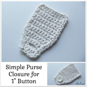 Simple Purse Closure ~ Rhelena - CrochetN'Crafts