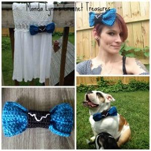 Spacey Wacey Bow ~ Manda Proell - MandaLynn's Crochet Treasures