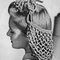 Beaded Snood ~ Free Vintage Crochet