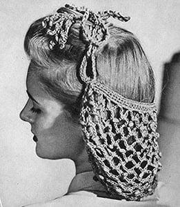 Beaded Snood ~ Free Vintage Crochet