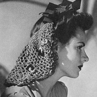 Bow Snood ~ Free Vintage Crochet