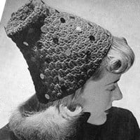 Hat with Various Trimmings ~ Free Vintage Crochet