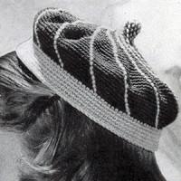 Stitched Calot ~ Free Vintage Crochet