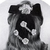 Bow and Flower Hair-Do ~ Free Vintage Crochet
