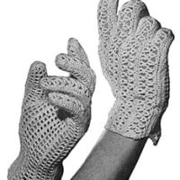 Crocheted Gloves ~ Free Vintage Crochet
