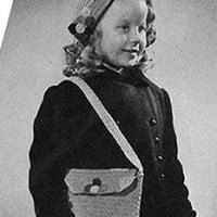 Dutch Bag and Hat ~ Free Vintage Crochet