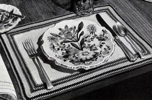 Italian Table Mats ~ Free Vintage Crochet