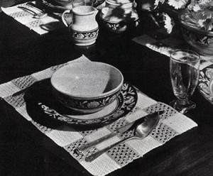 Block Mat Breakfast Set ~ Free Vintage Crochet