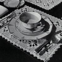 The Petal Luncheon Set ~ Free Vintage Crochet