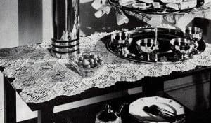 Tea Wagon Mat ~ Free Vintage Crochet