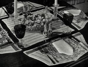 Dessert Bridge Set ~ Free Vintage Crochet