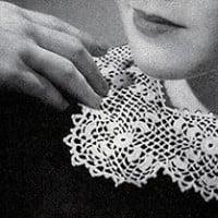 Irish Crochet Collar and Cuffs ~ Free Vintage Crochet