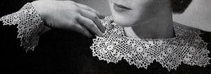 Irish Crochet Collar and Cuffs ~ Free Vintage Crochet
