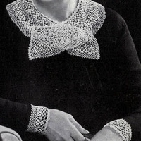 Dentelle Collar and Cuffs ~ Free Vintage Crochet