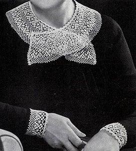 Dentelle Collar and Cuffs ~ Free Vintage Crochet