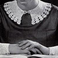 Eton Collar Set ~ Free Vintage Crochet