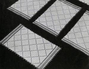 Diamond Luncheon Set ~ Free Vintage Crochet