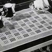 Checkmate Tray Mat ~ Free Vintage Crochet