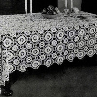 Star Wheel Tablecloth ~ Free Vintage Crochet