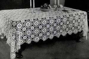 Star Wheel Tablecloth ~ Free Vintage Crochet