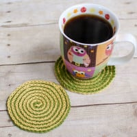 Summer Spiral Coasters ~ Petals to Picots