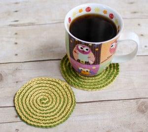 Summer Spiral Coasters ~ Petals to Picots