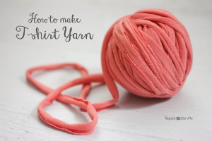 How to Make T-shirt Yarn ~ Repeat Crafter Me