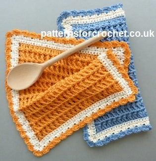 Cotton Dishcloth Free Crochet Pattern
