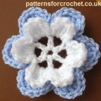 Layered Flower Motif ~ Patterns For Crochet