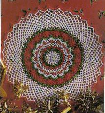 Christmas Cheer Doily ~ MomsLoveOfCrochet.com