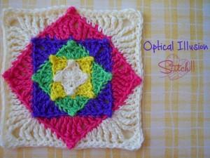 Optical Illusion Square ~ Stitch11