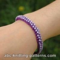 Friendship Bead Bracelet ~ ABC Knitting Patterns