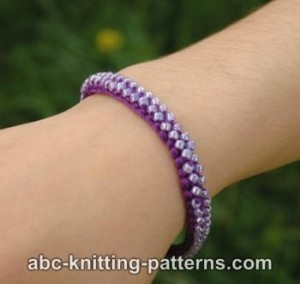 Friendship Bead Bracelet ~ ABC Knitting Patterns