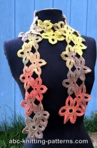 Starflower Scarf ~ ABC Knitting Patterns