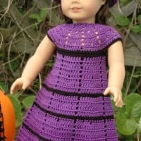 American Girl Doll Witch's Dress ~ ABC Knitting Patterns