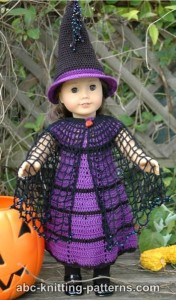 American Girl Doll Witch's Cloak ~ ABC Knitting Patterns