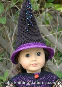 American Girl Doll Witch's Hat ~ ABC Knitting Patterns