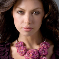 Floral Crochet Necklace ~ Darla Sims - Red Heart