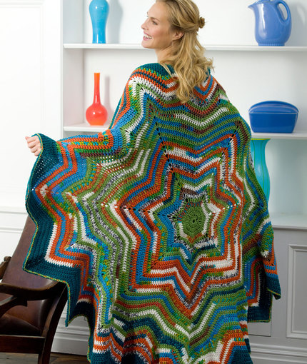 7 Point Star Throw Free Crochet Pattern