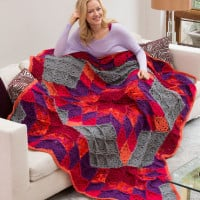 Desert Star Throw ~ Marilyn Coleman – Mary Jane Protus – Bobbi Anderson – Red Heart