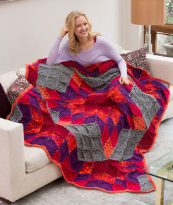 Desert Star Throw ~ Marilyn Coleman - Mary Jane Protus - Bobbi Anderson - Red Heart