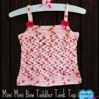 Mini Bow Toddler Tank Top ~ Erangi Udeshika – Crochet For You