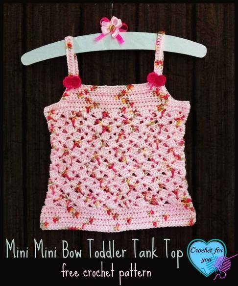Mini Bow Toddler Tank Top ~ FREE Crochet Pattern
